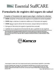 Formulario de registro del seguro de salud