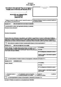 Formulario Internacional Tipo con arreglo al Tratado sobre el Derecho de Patentes (PLT)
