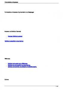 Formularios e impresos Ayuntamiento de Galapagar. Impreso de Solicitud General. - Impreso Solicitud general - Solicitud expedicion documentos