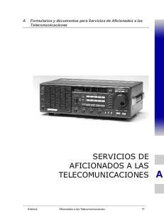Formularios y documentos para Servicios de Aficionados a las Telecomunicaciones