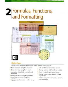 Formulas, Functions, and FormattingIMF