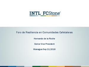 Foro de Resiliencia en Comunidades Cafetaleras