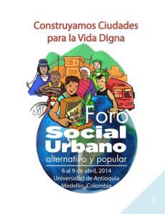 FORO SOCIAL URBANO ALTERNATIVO Y POPULAR