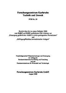 Forschungszentrum Karlsruhe Technik und Umwelt