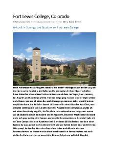 Fort Lewis College, Colorado