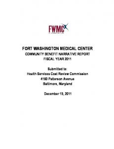 FORT WASHINGTON MEDICAL CENTER