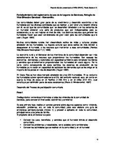 Fortalecimiento del reglamento de uso de la Laguna de Gandoca, Refugio de Vida Silvestre Gandoca - Manzanillo