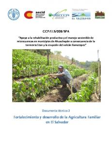 Fortalecimiento y desarrollo de la Agricultura Familiar en El Salvador