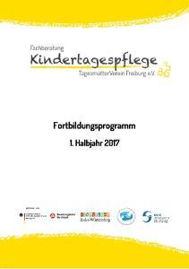 Fortbildungsprogramm 1. Halbjahr 2017