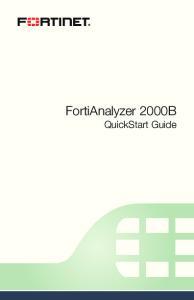 FortiAnalyzer 2000B QuickStart Guide