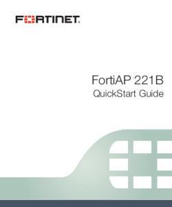 FortiAP 221B. QuickStart Guide