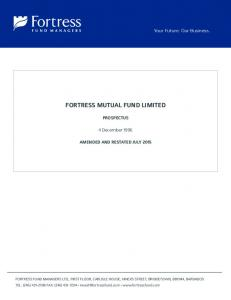 FORTRESS MUTUAL FUND LIMITED