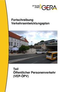 Fortschreibung Verkehrsentwicklungsplan
