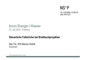 forum Energie I Wasser
