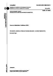 Forum on Stakeholder Confidence (FSC)