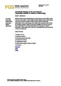 FORUM: QUALITATIVE SOCIAL RESEARCH SOZIALFORSCHUNG