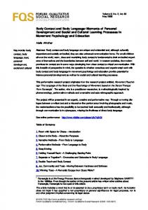 FORUM: QUALITATIVE SOCIAL RESEARCH SOZIALFORSCHUNG