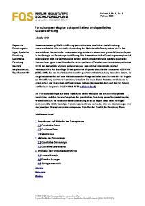 FORUM: QUALITATIVE SOZIALFORSCHUNG SOCIAL RESEARCH