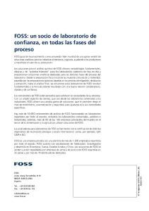 FOSS: un socio de laboratorio de confianza, en todas las fases del proceso