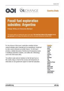 Fossil fuel exploration subsidies: Argentina