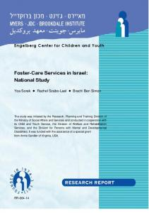 Foster-Care Services in Israel: National Study