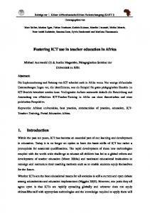 Fostering ICT use in teacher education in Africa