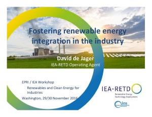 Fostering renewable energy integration in the industry