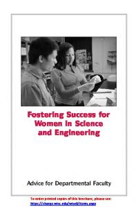 Fostering Success for Women in Science and Engineering