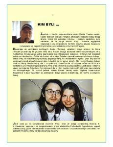 Foto.- autor nie znany - Bieszczady 1994 rok Anna i Robert w charakterystycznych białych czapeczkach z logo czerwonego jabłka