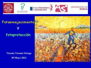 Fotoenvejecimiento. Vicente Vicente Ortega 30 Mayo 2012