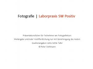 Fotografie Laborpraxis SW Positiv