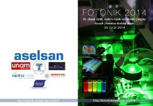 FOTONİK Ulusal Optik, Elektro-Optik ve Fotonik Çalıştayı