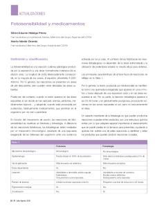 Fotosensibilidad y medicamentos