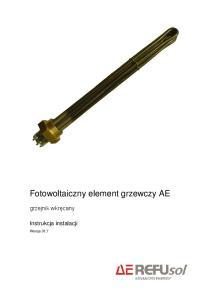 Fotowoltaiczny element grzewczy AE