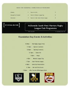 Foundation Day Events & Activities