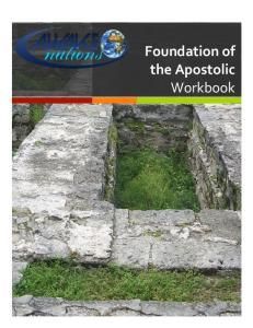 Foundation of the Apostolic Workbook