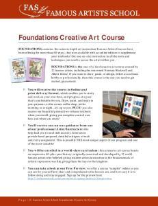 Foundations Creative Art Course