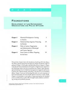 FOUNDATIONS DEVELOPMENT OF LAW ENFORCEMENT ORGANIZATIONS AND POLICE OFFICERS