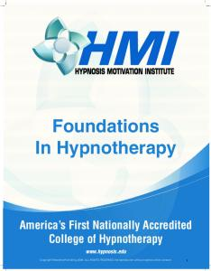 Foundations In Hypnotherapy