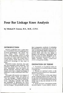 Four Bar Linkage Knee Analysis