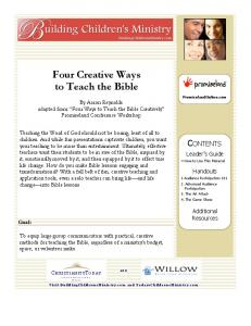 Four Creative Ways to Teach the Bible
