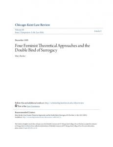 Four Feminist Theoretical Approaches and the Double Bind of Surrogacy