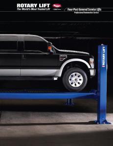 Four-Post General Service Lifts Professional Automotive Service