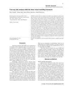 Four-way data analysis within the linear mixed modelling framework