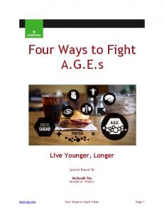 Four Ways to Fight A.G.E.s