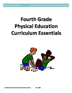 Fourth Grade Physical Education Curriculum Essentials Document