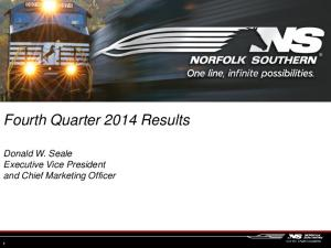 Fourth Quarter 2014 Results. Donald W. Seale Executive Vice President and Chief Marketing Officer