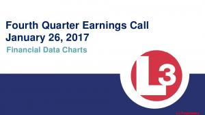 Fourth Quarter Earnings Call January 26, 2017