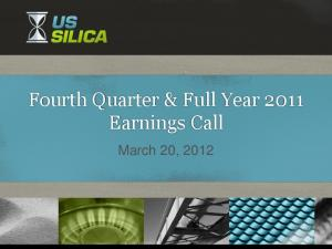 Fourth Quarter & Full Year 2011 Earnings Call. March 20, 2012