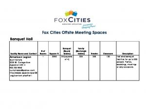 Fox Cities Offsite Meeting Spaces